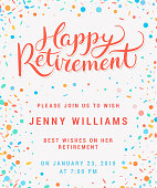 Happy retirement. Party invitation.