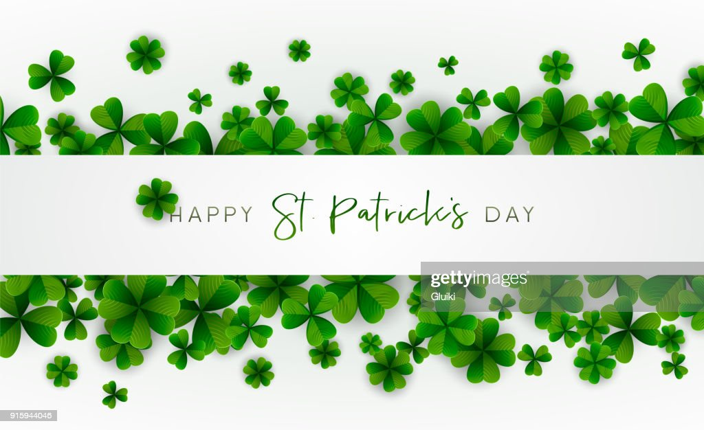 Happy Saint Patrick's Day background. Vector illustration.
