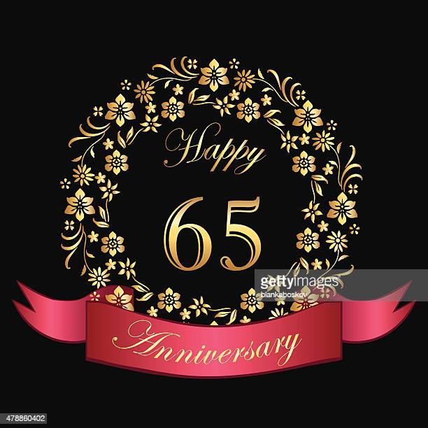 Happy Sixty Fifth Anniversary Card