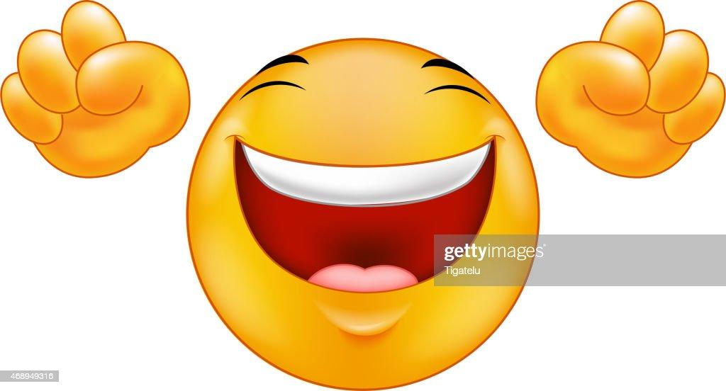 Happy smiling emoticon  cartoon