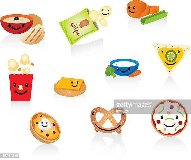 happy snacks - dipping stock illustrations, clip art, cartoons, & icons