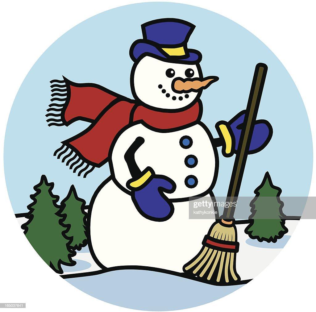 happy snowman icon
