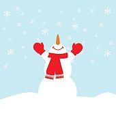 Happy snowman illustration