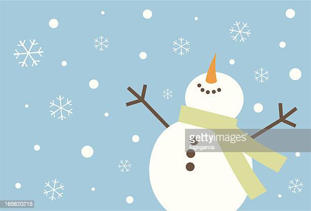 happy snowman - joy stock illustrations