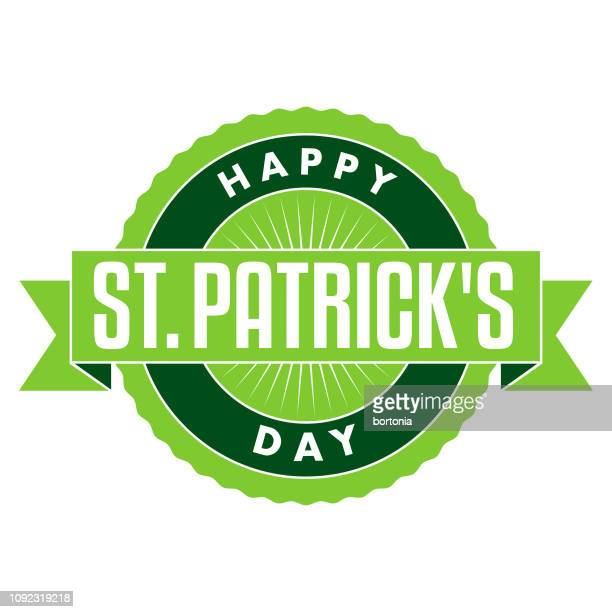 happy st. patrick's day - st patrick's day stock illustrations