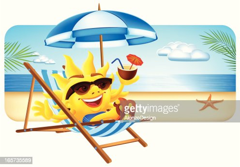 Happy Sun On Vacation Vector Art Getty Images