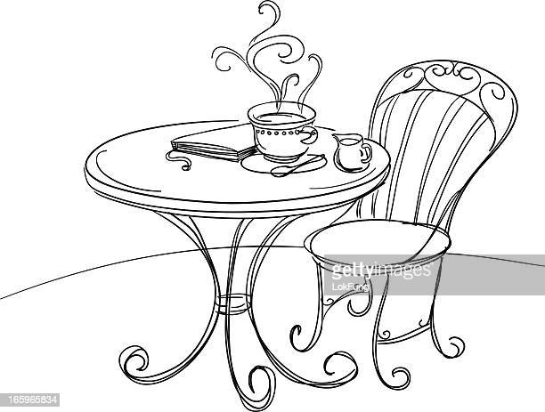 Happy tea time illustration