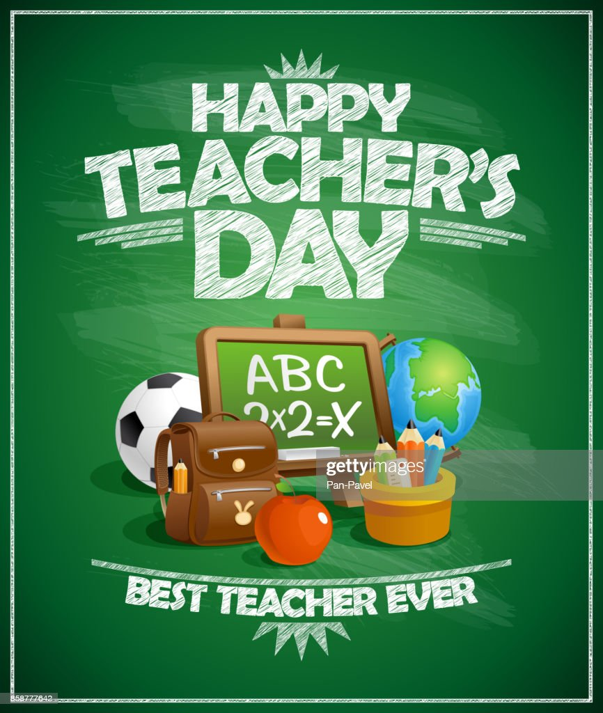 Happy teacher`s day poster