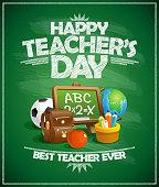 Happy teacher`s day poster