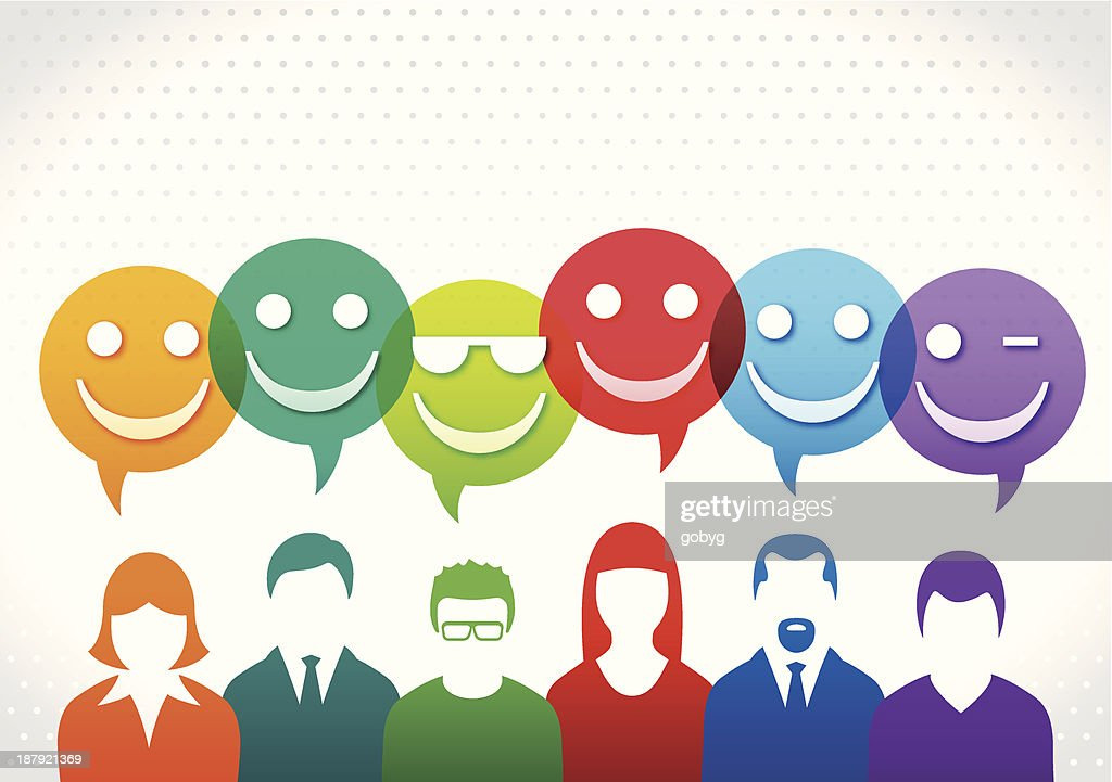 Happy Team : Stock Illustration