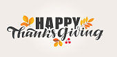 Happy ThanksGiving Day - Give thanks - cute hand drawn lettering postcard template banner