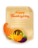 Happy Thanksgiving Day greeting card.