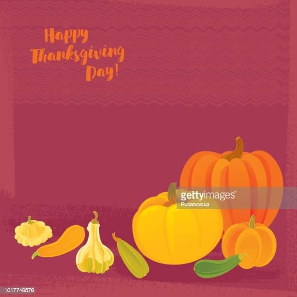 happy thanksgiving day. - marrom stock illustrations