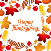 Happy Thanksgiving fall concept