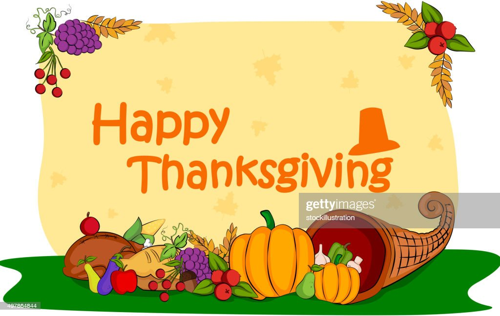 Happy thanksgiving holiday greeting card vector art getty images happy thanksgiving holiday greeting card vector art m4hsunfo