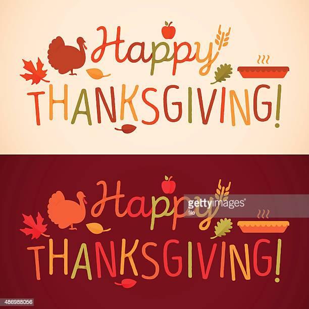 ilustraciones, imágenes clip art, dibujos animados e iconos de stock de happy thanksgiving mensaje - al vapor