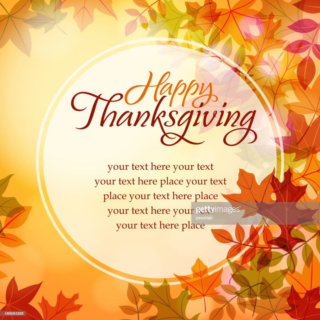 Happy Thanksgiving Text Message Vector Art Getty Images