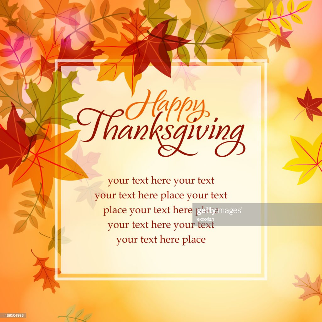 Happy thanksgiving text message vector art getty images happy thanksgiving text message vector art kristyandbryce Images