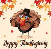 Happy thanksgiving turkey template