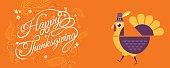 happy thanksgiving, Typographic,cartoon character.