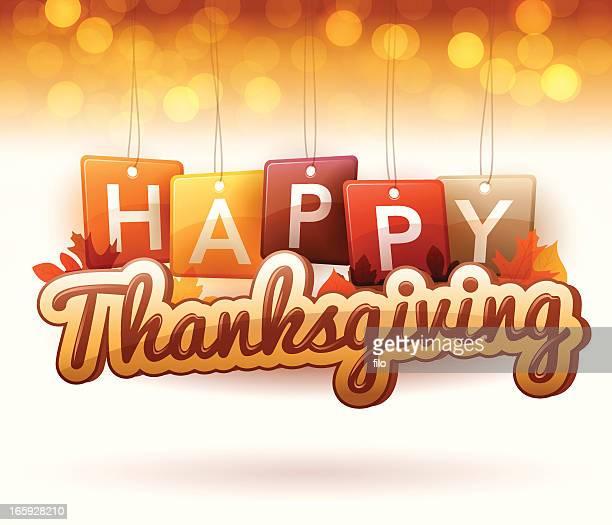 happy thanksgiving - thanksgiving holiday stock illustrations, clip art, cartoons, & icons