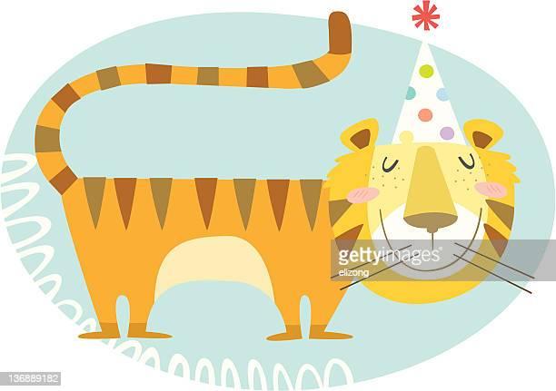 ilustraciones, imágenes clip art, dibujos animados e iconos de stock de tigre feliz año! - tigre