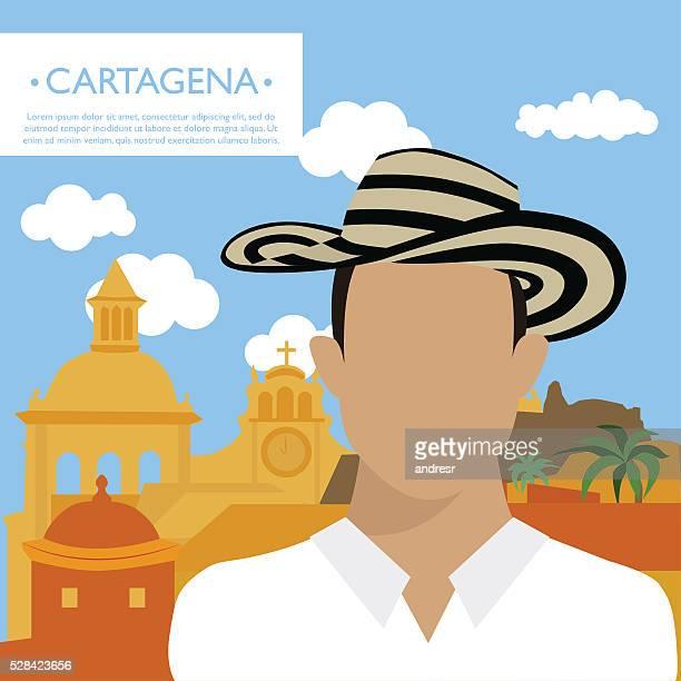 Happy tourist in Cartagena