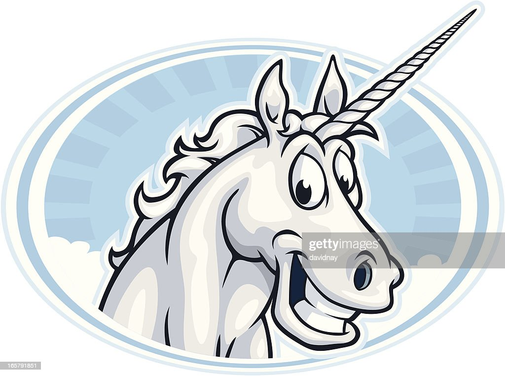 Happy Unicorn Mascot : stock illustration