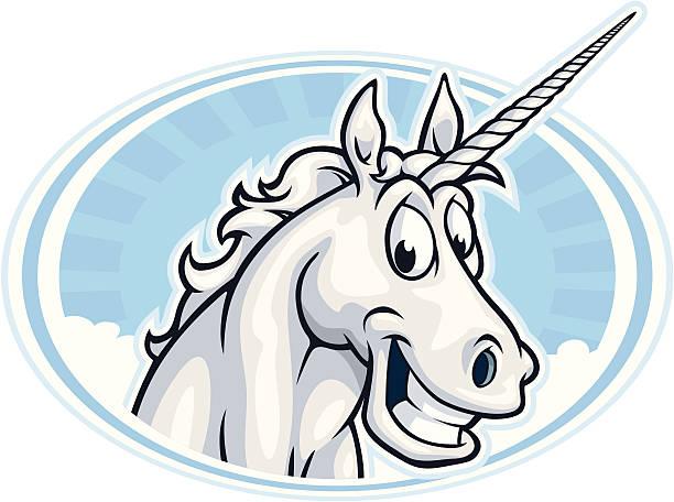 happy unicorn mascot - unicorn stock illustrations
