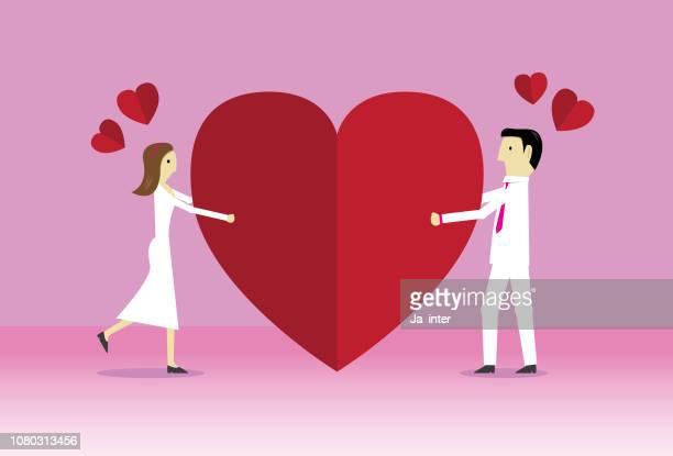 happy valentine - mobile app stock illustrations
