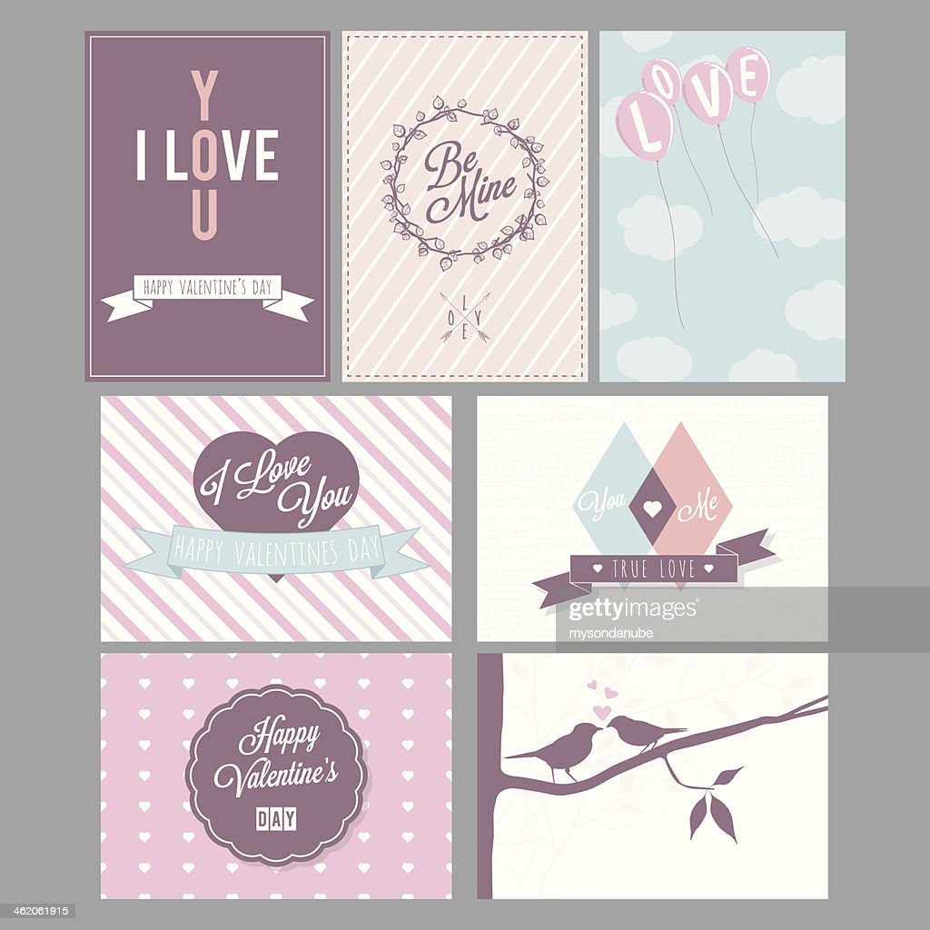 Happy valentines day and wedding cards