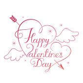 Happy Valentine's day calligraphy