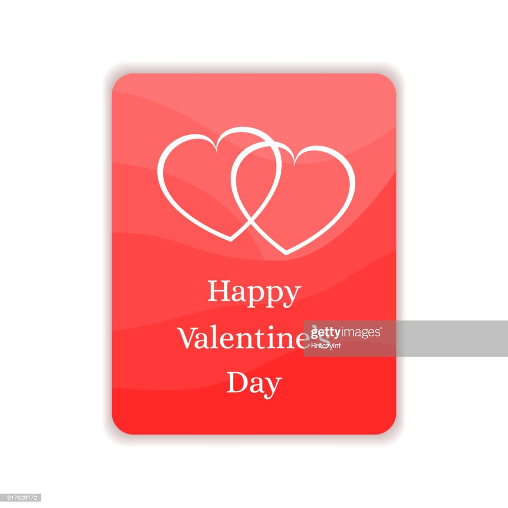 Happy Valentines Day Card. Gift, Greeting Banner