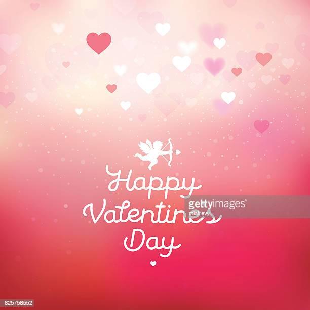 illustrations, cliparts, dessins animés et icônes de heureuse saint valentin carte - cupidon and saint valentin
