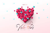 Happy Valentine's Day festive design banner, greeting card or poster.