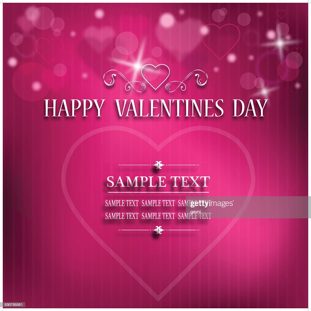 Happy Valentines Day Greeting Card Vector Art Getty Images