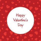 Happy Valentine's Day Greeting Card with hearts.