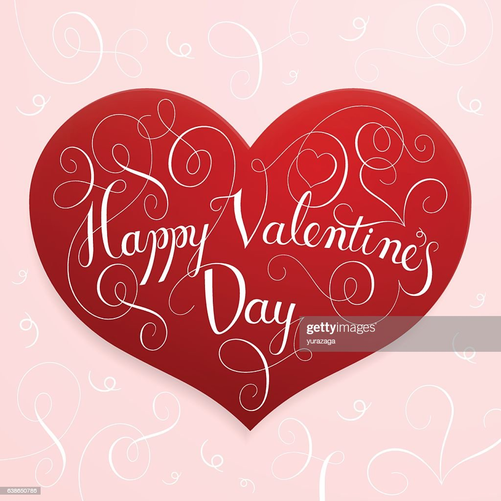 Happy Valentines Day Lettering Vector Art Getty Images