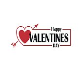 happy valentines day poster with heart