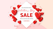 Happy Valentine's Day Sale Seasonal Banner