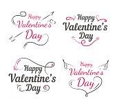 Happy valentines day set