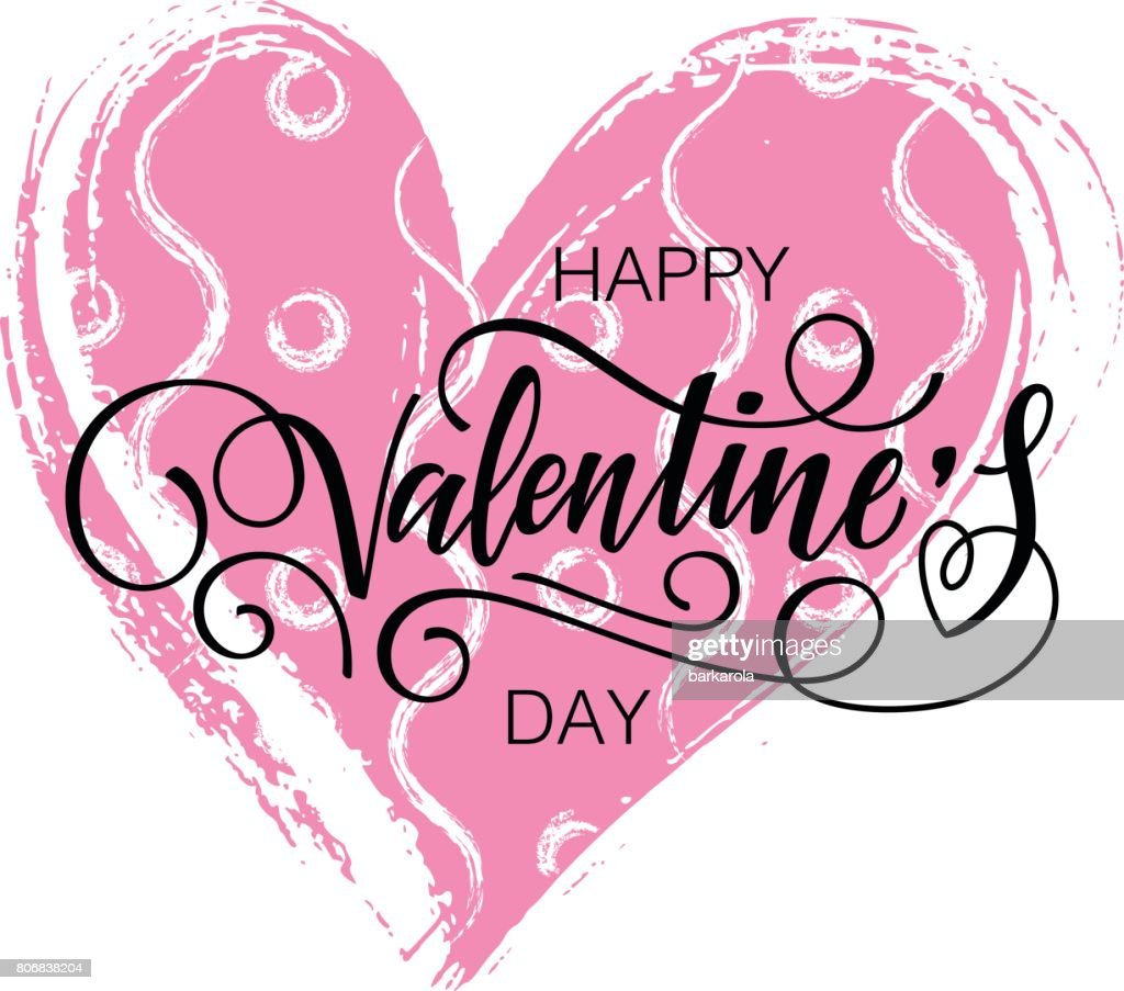 Happy Valentines Day Vector Card Vector Art Getty Images