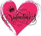 Happy Valentine's day vector card.