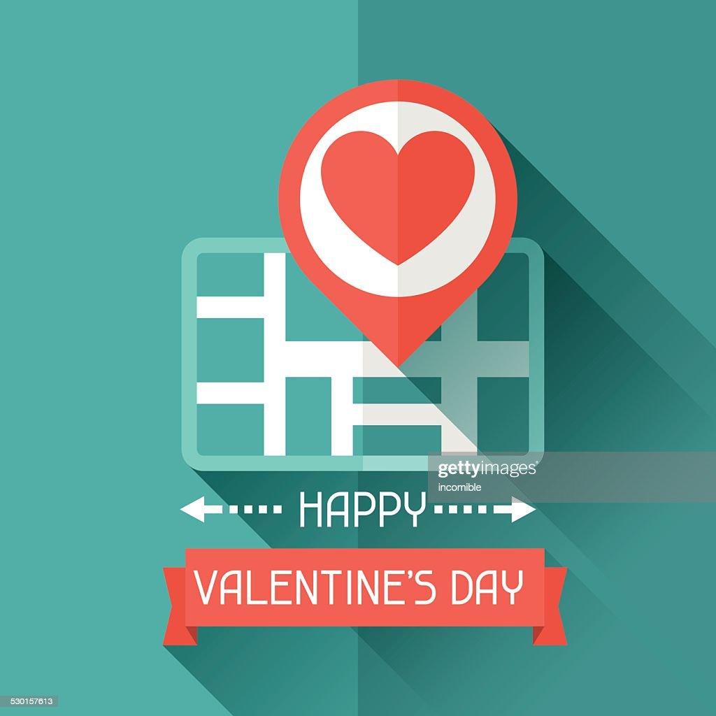 Happy Valentine's illustration in flat style.