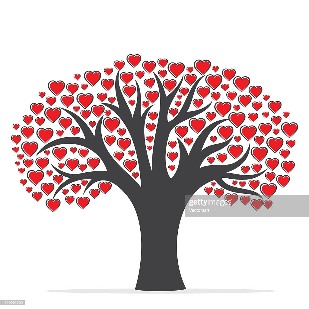 happy valentine's tree design