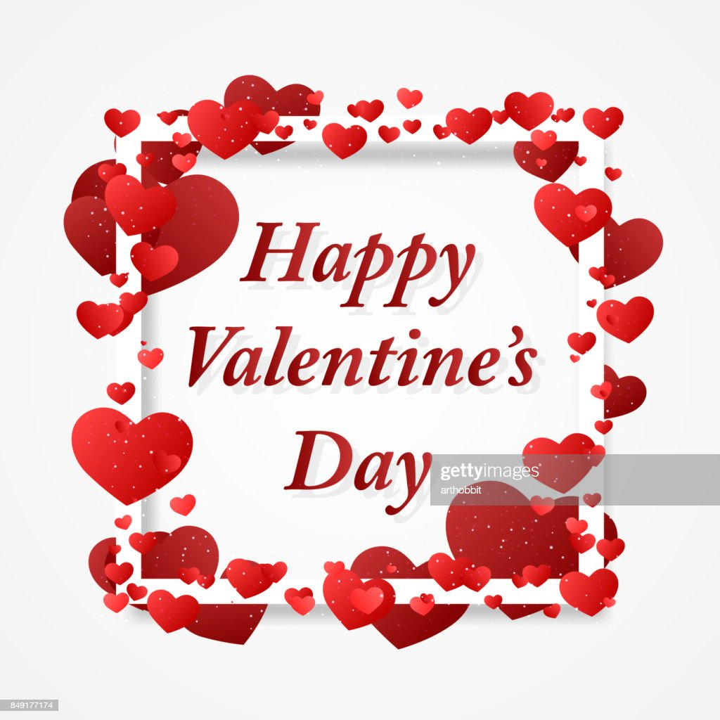 Happy Valentins Day greeting.