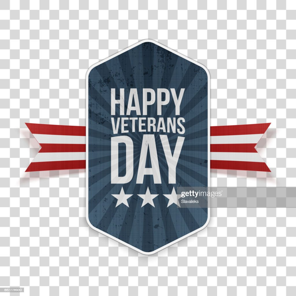 Happy Veterans Day american Banner Template