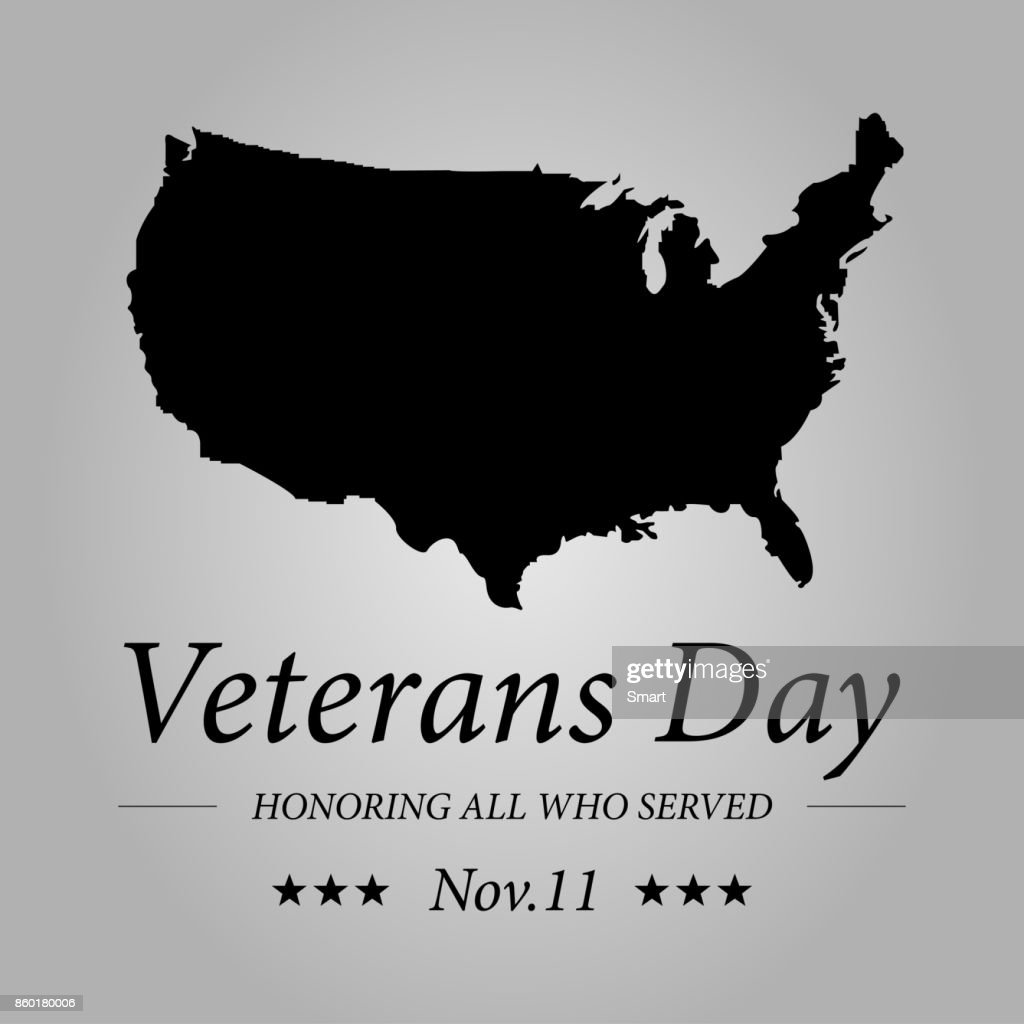 Happy Veterans Day With Usa Flag Illustration November 11th