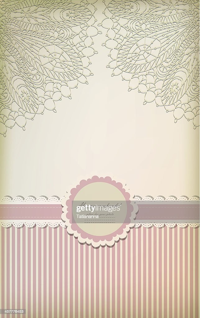 Happy weekend card in pink and white with frilly decorations
