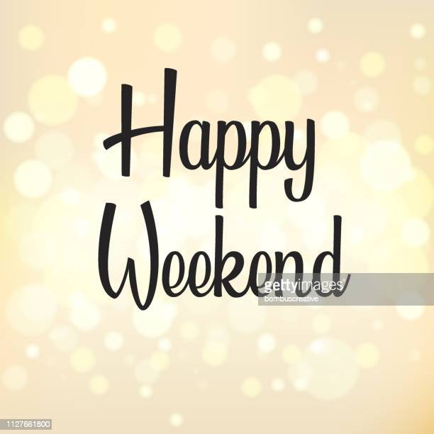 happy weekend - friday stock illustrations
